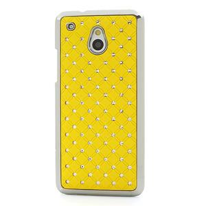 Drahokamové puzdro pre HTC one Mini M4- žlté - 2