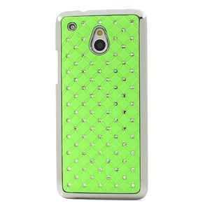 Drahokamové puzdro pre HTC one Mini M4- zelené - 2