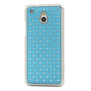 Drahokamové puzdro pre HTC one Mini M4- svetlo modré - 2