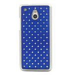 Drahokamové puzdro pre HTC one Mini M4- modré - 2/5
