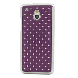 Drahokamové puzdro pre HTC one Mini M4- fialové - 2