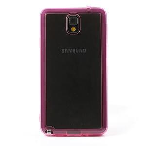 Gélové hybrid puzdro na Samsung Galaxy Note 3- růžové - 2