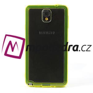 Gélové hybrid puzdro na Samsung Galaxy Note 3- žlté - 2
