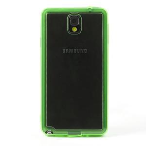 Gélové hybrid puzdro na Samsung Galaxy Note 3- zelené - 2