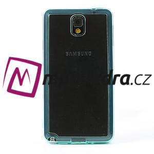 Gélové hybrid puzdro na Samsung Galaxy Note 3- svetlo modré - 2