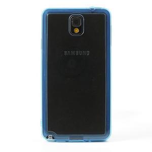 Gélové hybrid puzdro na Samsung Galaxy Note 3- modré - 2