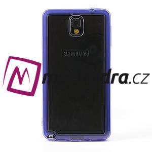 Gélové hybrid puzdro na Samsung Galaxy Note 3- fialové - 2