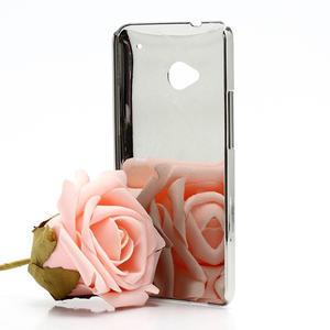 Drahokamové puzdro pre HTC one M7- biele - 2