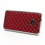 Drahokamové puzdro pre HTC one M7- červené - 2/7