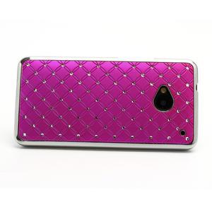 Drahokamové puzdro pre HTC one M7- růžové - 2