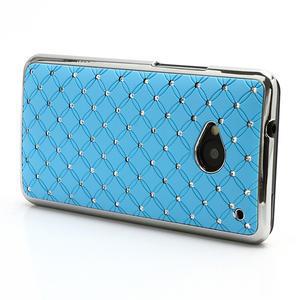 Drahokamové puzdro pre HTC one M7- svetlo modré - 2