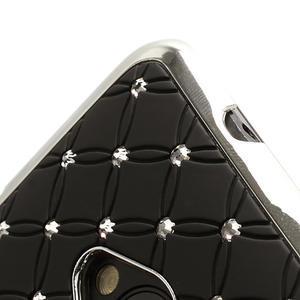 Drahokamové puzdro pre HTC one M7- čierné - 2