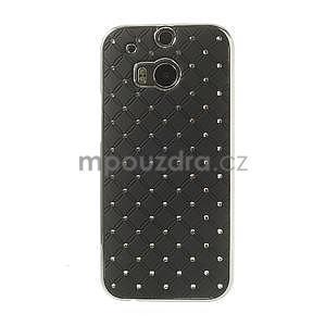 Drahokamové puzdro pre HTC one M8- čierné - 2