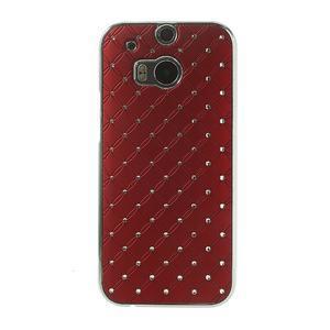 Drahokamové puzdro pre HTC one M8- červené - 2