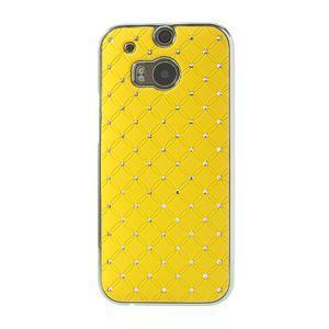 Drahokamové puzdro pre HTC one M8- žlté - 2