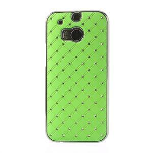 Drahokamové puzdro pre HTC one M8- zelené - 2
