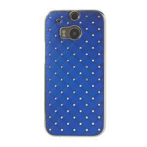 Drahokamové puzdro pre HTC one M8- modré - 2