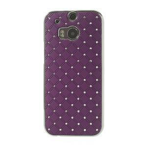 Drahokamové puzdro pre HTC one M8- fialové - 2