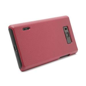 Texturované puzdro pre LG Optimus L7 P700- červené - 2