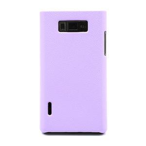 Texturované puzdro pre LG Optimus L7 P700- fialové - 2