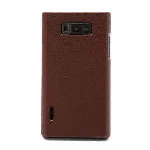 Texturované  puzdro pre LG Optimus L7 P700- hnedé - 2