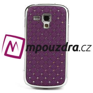 Drahokamové puzdro pre Samsung Trend plus, S duos- fialové - 2