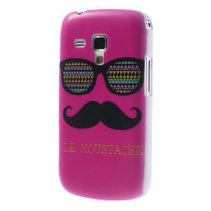 Plastové puzdro na Samsung Trend plus, S duos - růžové kníraté - 2