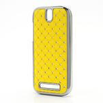 Drahokamové puzdro pre HTC One SV- žlté - 2/5