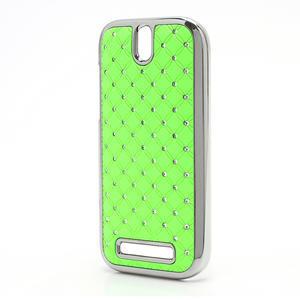 Drahokamové puzdro pre HTC One SV- zelené - 2