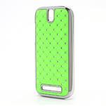 Drahokamové puzdro pre HTC One SV- zelené - 2/5