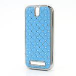 Drahokamové puzdro pre HTC One SV- svetlo modré - 2/5