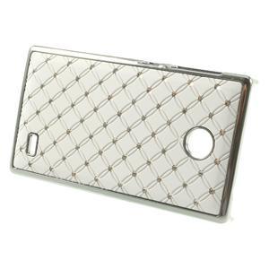 Drahokamové puzdro na Nokia X dual- biele - 2