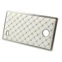 Drahokamové puzdro na Nokia X dual- biele - 2/5