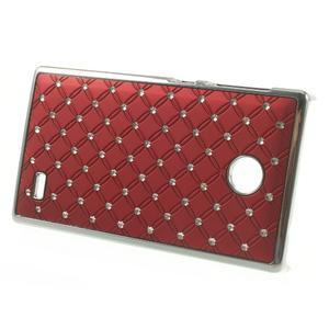 Drahokamové puzdro na Nokia X dual- červené - 2