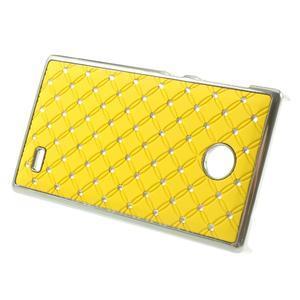 Drahokamové puzdro na Nokia X dual- žlté - 2
