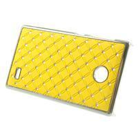 Drahokamové puzdro na Nokia X dual- žlté - 2/5