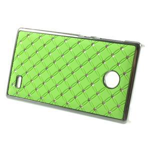 Drahokamové puzdro na Nokia X dual- zelené - 2