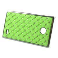 Drahokamové puzdro na Nokia X dual- zelené - 2/5