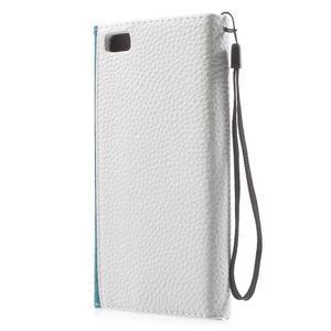 Luxusní peněženkové pouzdro na Huawei P8 Lite - bílé / modré - 2
