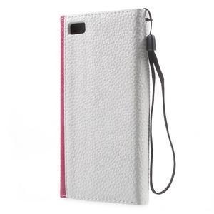 Luxusní peněženkové pouzdro na Huawei P8 Lite - bílé / rose - 2