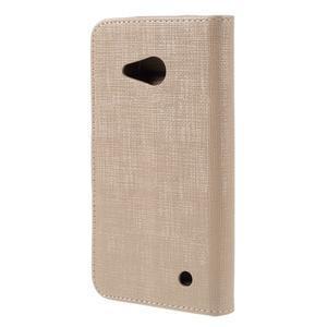 Cloth PU kožené puzdro na mobil Microsoft Lumia 550 - champagne - 2