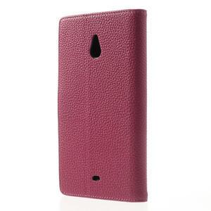 Peňaženkové puzdro pre Nokia Lumia 1320- růžové - 2
