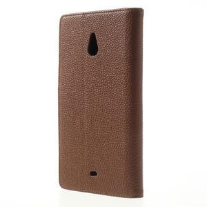 Peňaženkové puzdro pre Nokia Lumia 1320- hnedé - 2