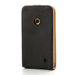 Flipové čierné puzdro na Nokia Lumia 520 - 2/7