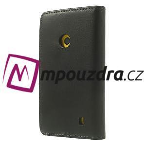 Peňaženkové puzdro na Nokia Lumia 520 - čierné - 2