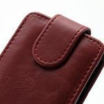 Flipové puzdro na Nokia Lumia 620- červené - 2/5