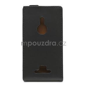 Flipové čierné puzdro pre Nokia Lumia 925 - 2