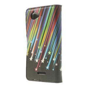 Peňaženkové puzdro na Sony Xperia L C2105 - meteor - 2