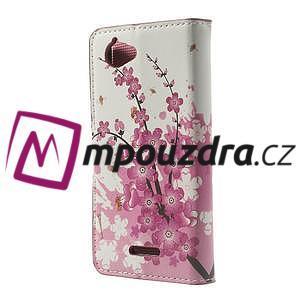 Peňaženkové puzdro na Sony Xperia L C2105- kvetoucí větvička - 2