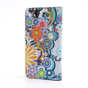 Peňaženkové puzdro pre Sony Xperia Z C6603 - farebné vzory - 2